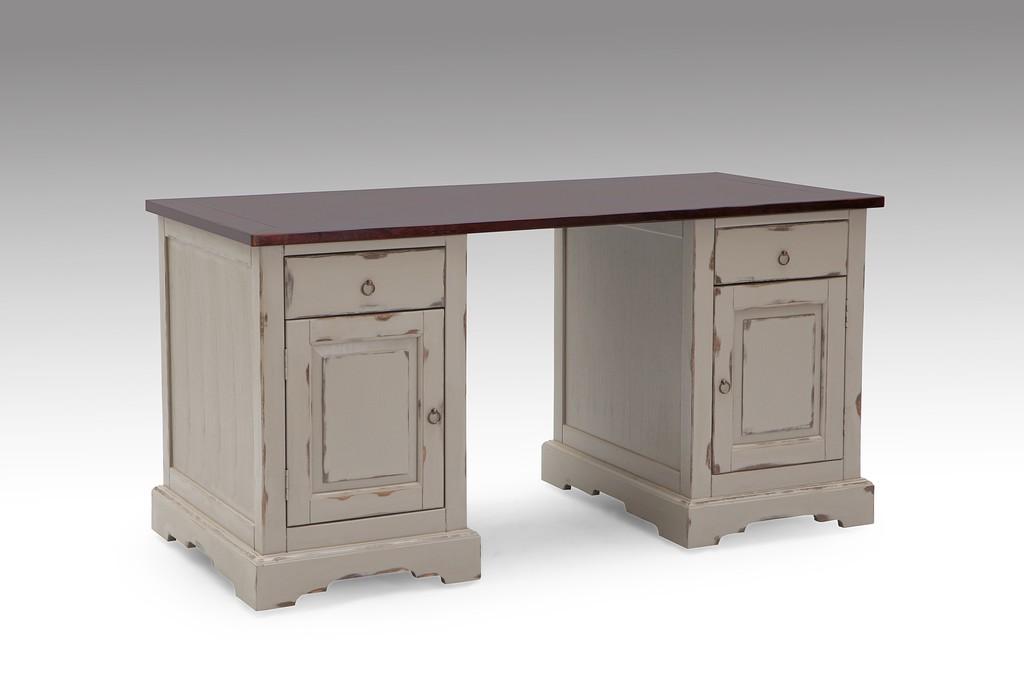Schreibtisch massivholz for Schreibtisch x beine