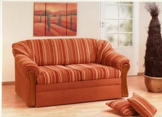 schlafsofa im landhausstil mit federkern unterfederung mit lattenrost. Black Bedroom Furniture Sets. Home Design Ideas