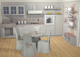 Beispiele landhaus kuche fichte massiv for Kranzleiste küche