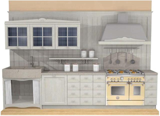 beispiele landhaus k che fichte massiv. Black Bedroom Furniture Sets. Home Design Ideas