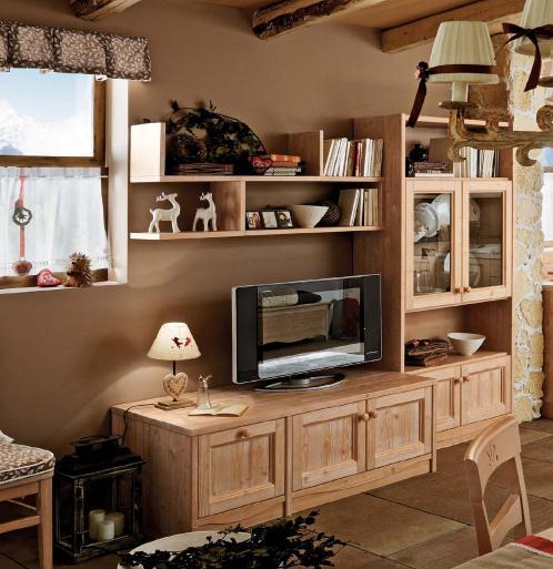 callesella wohnwand fichte massiv. Black Bedroom Furniture Sets. Home Design Ideas