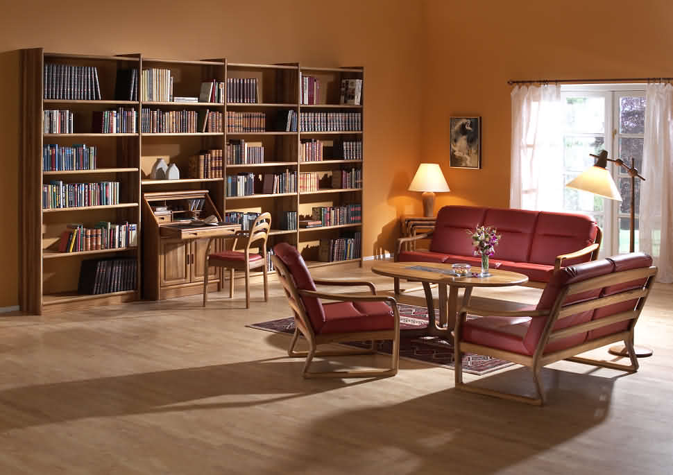 Trendy teak wood bookshelf cute solid bedroom furniture trad.