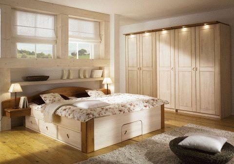 Kiefer,Schlafzimmer,Betten,Kleiderschränke