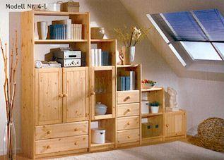 wohnwand contra kiefer. Black Bedroom Furniture Sets. Home Design Ideas