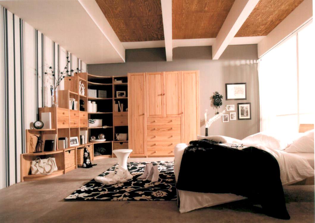 Schlafzimmer Buche/Kernbuche - Massivholzmöbel DAM 2000