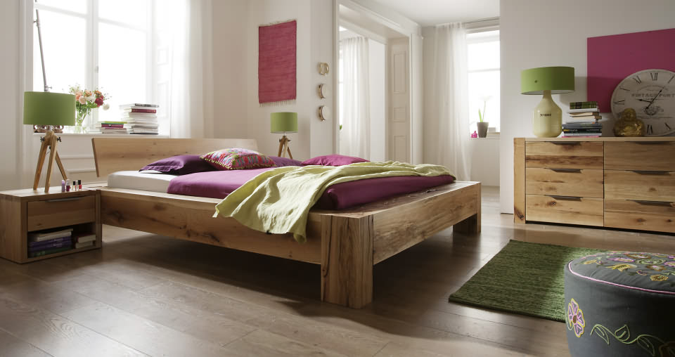 schlafzimmer eiche - massivholzmöbel dam 2000