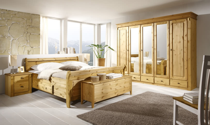 schlafzimmer landhausstil massivholzm bel dam 2000. Black Bedroom Furniture Sets. Home Design Ideas