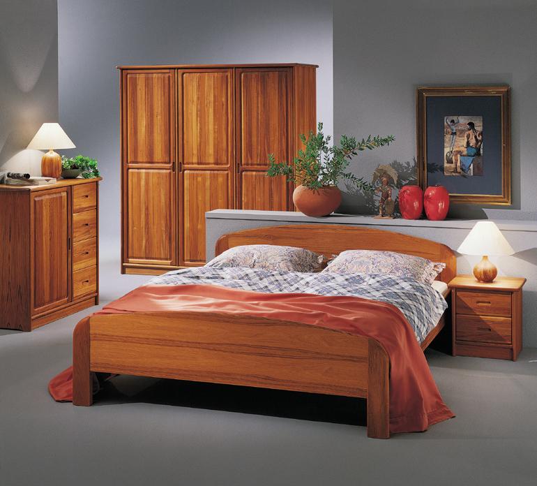 Schlafzimmer Teak/Kirschbaum - Massivholzmöbel DAM 2000