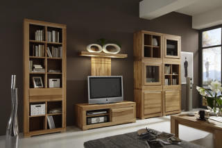 wohnw nde in eiche wildeiche massivholzm bel dam 2000. Black Bedroom Furniture Sets. Home Design Ideas
