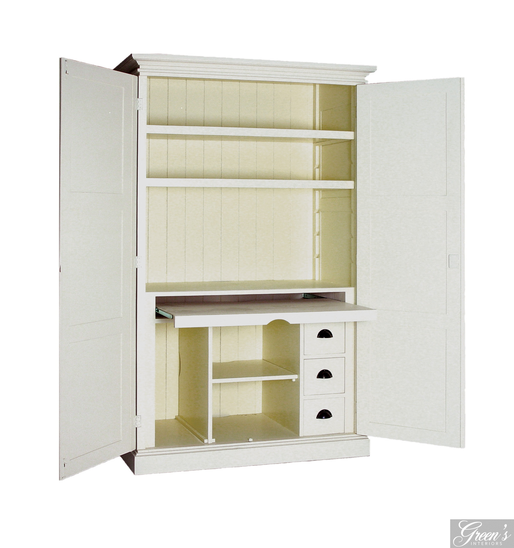 PC-Schrank, Landhaus, Houston, Kiefer farbig - DAM 10 Ltd. & Co KG