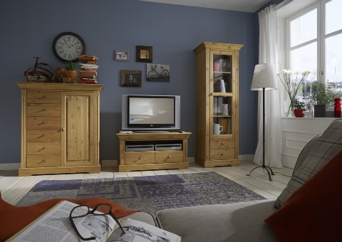 tv kommode amrum kiefer massiv landhaus dam 2000 ltd. Black Bedroom Furniture Sets. Home Design Ideas
