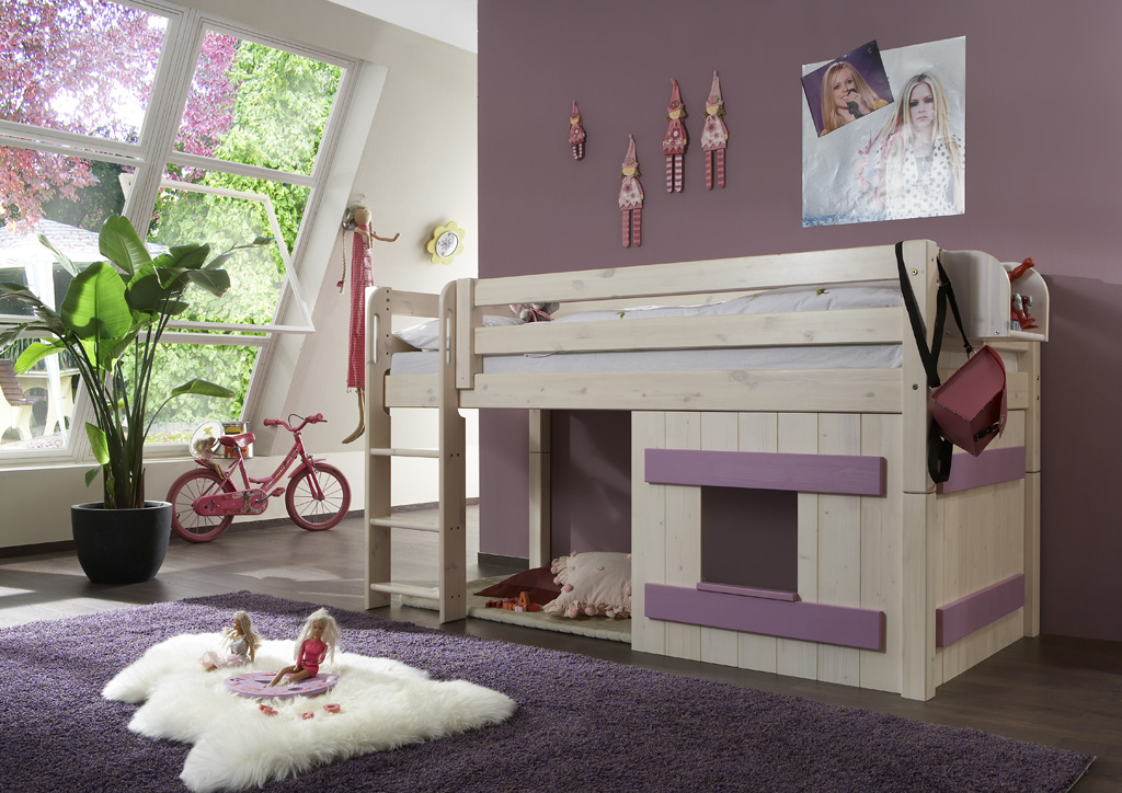 halbhohes kinderbett kiefer massiv dam 2000 ltd co kg. Black Bedroom Furniture Sets. Home Design Ideas