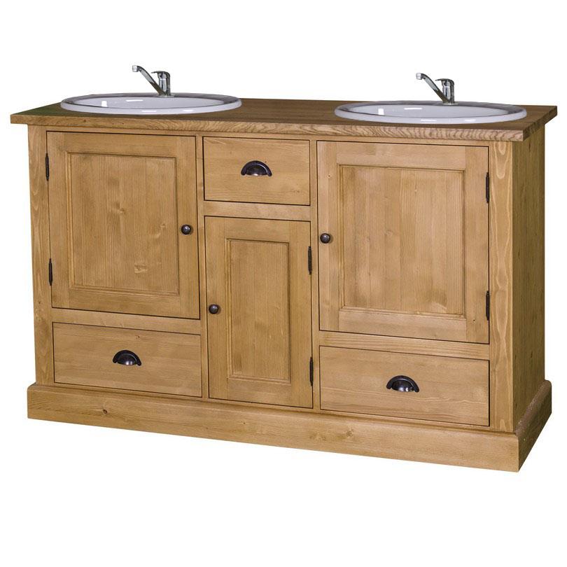 Waschtisch landhaus eiche  Waschtisch mit 2 Becken - DAM 2000 Ltd. & Co KG