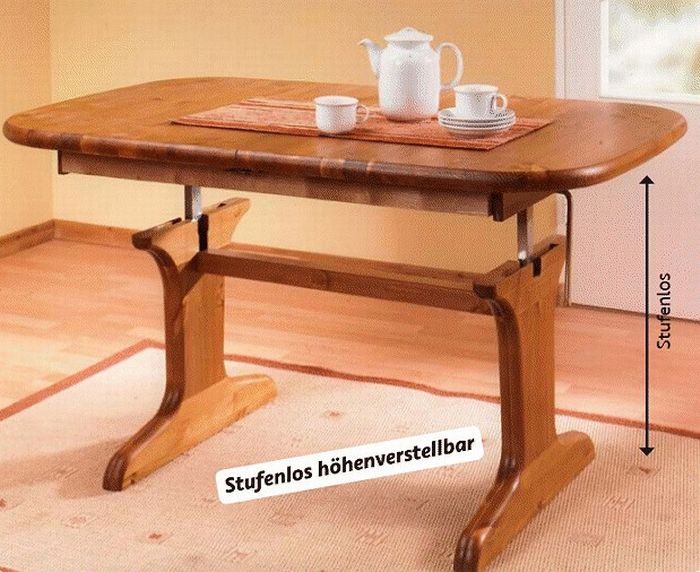couchtisch h henverstellbar kiefer massiv dam 2000 ltd. Black Bedroom Furniture Sets. Home Design Ideas