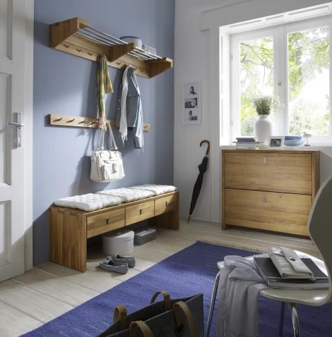 sitzbank 3 schubladen kernbuche wildeiche dam 2000. Black Bedroom Furniture Sets. Home Design Ideas