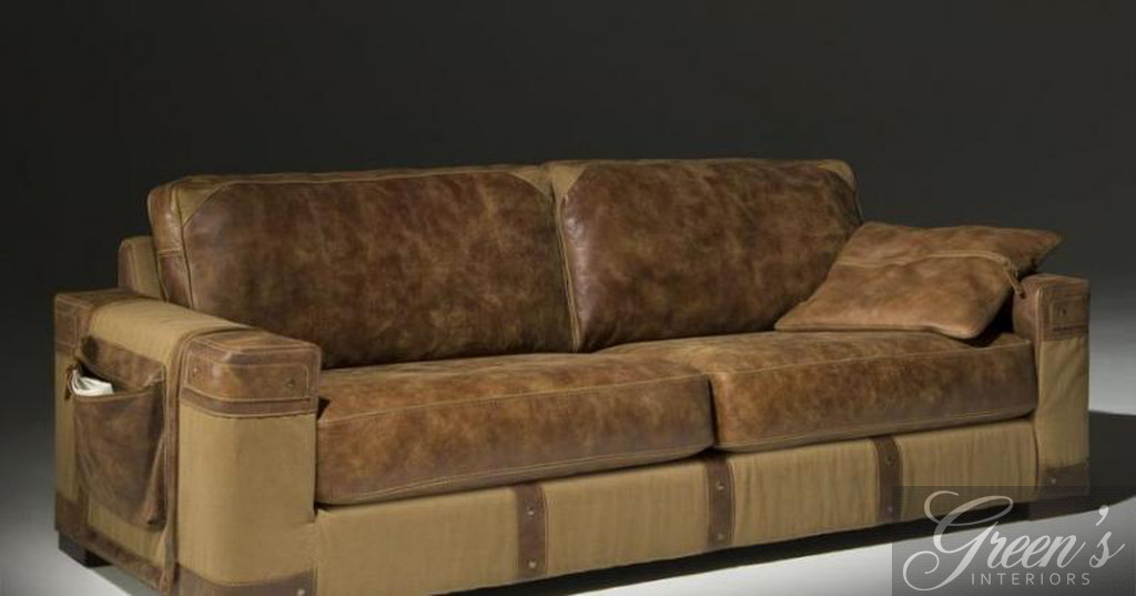 Sofa Scotland, Leder-Canvas - DAM 2000 Ltd. & Co KG