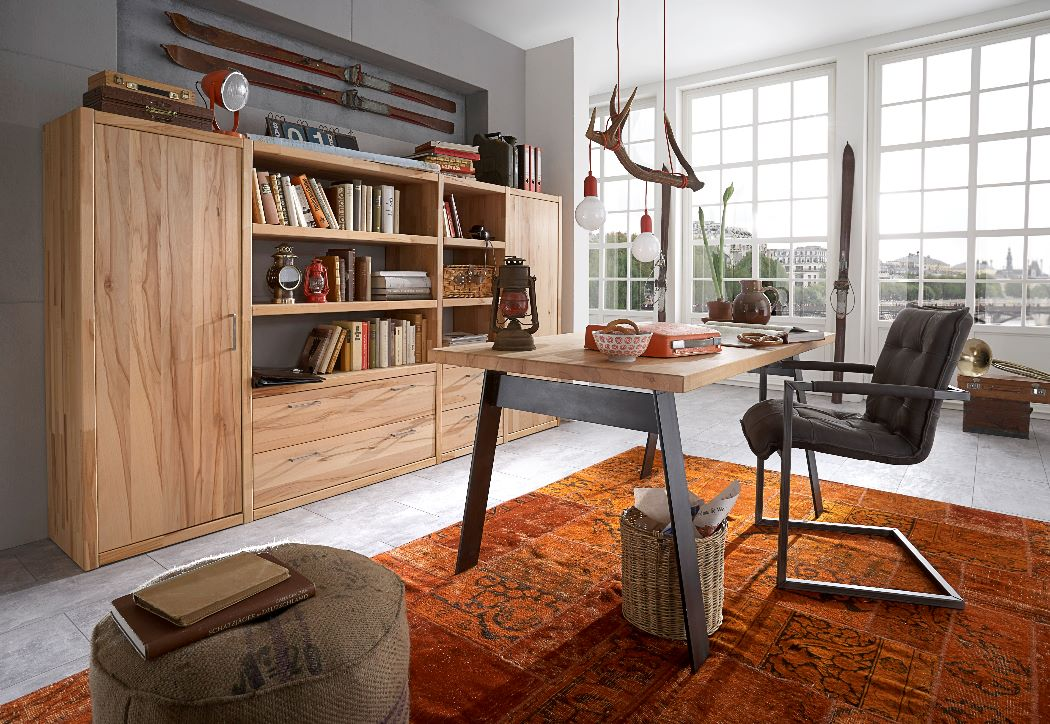 schreibtisch work it kernbuche dam 2000 ltd co kg. Black Bedroom Furniture Sets. Home Design Ideas