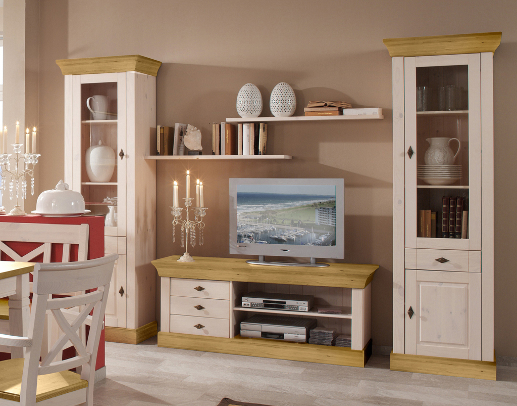 wohnwand veneto duo kiefer massiv dam 2000 ltd co kg. Black Bedroom Furniture Sets. Home Design Ideas