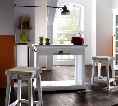 k cheninsel mit 2 hockern novo t767 dam 2000 ltd co kg. Black Bedroom Furniture Sets. Home Design Ideas