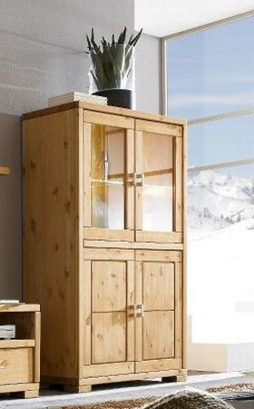 highboard vitrine guldborg kiefer massiv dam 2000 ltd. Black Bedroom Furniture Sets. Home Design Ideas