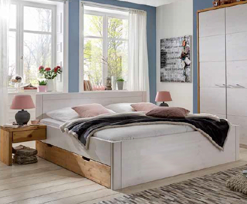 kiefer bett mit schubk sten rauna hoch dam 2000 ltd. Black Bedroom Furniture Sets. Home Design Ideas
