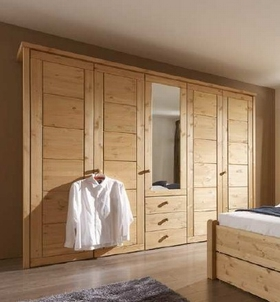 kleiderschrank kiefer massiv rauna dam 2000 ltd co kg. Black Bedroom Furniture Sets. Home Design Ideas