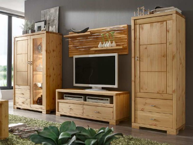 onlineshop wohnwand guldborg 2 kiefer massiv dam 2000. Black Bedroom Furniture Sets. Home Design Ideas