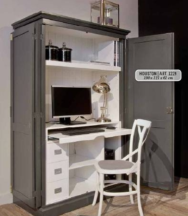 pc schrank landhaus houston kiefer farbig dam 2000. Black Bedroom Furniture Sets. Home Design Ideas